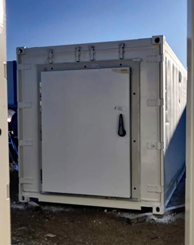 Aménagement de containers frigorifiques