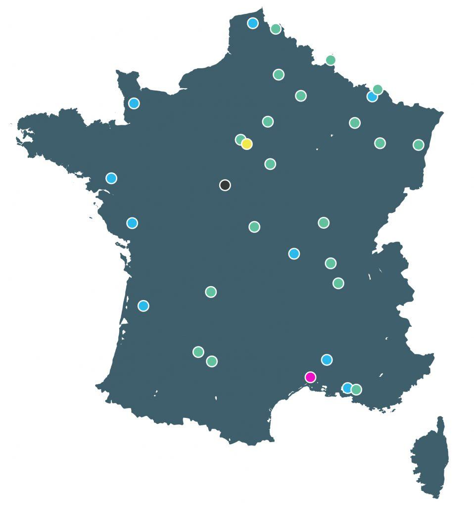 Carte des membres du réseau Netbox