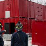 Des centres d'entraînement pour les pompiers en containers maritimes